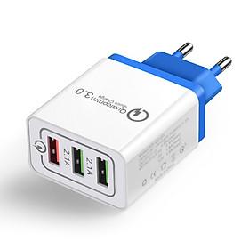 Adapter Sạc Nhanh QC3.0 3 Cổng USB