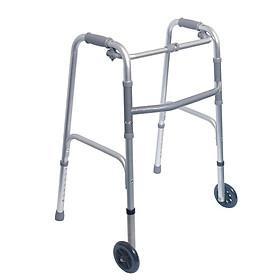 Khung Tâp Đi Cho Người Già,Người Bệnh, có bánh xe, Hoặc ghế ngồi,nạng nhôm