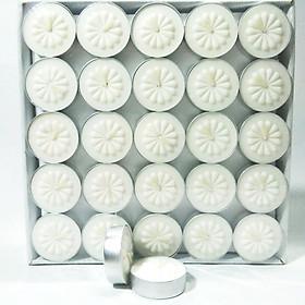 Nến Tealight Hoa Mai 50v/hộp Màu Trắng - Không Mùi Không Khói