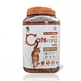 ]2kg] Thức ăn hạt cho mèo mọi lứa tuổi Catsrang dạng Hộp