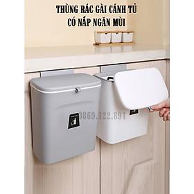 Thùng đựng rác thông minh gài cánh tủ- Thùng rác nắp đậy - Thùng rác treo tủ bếp tiện lợi