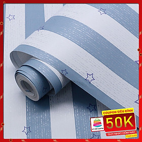 10M Giấy dán tường Trắng Xanh Ngôi sao WP0070