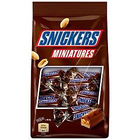 Combo 3 gói Chocolate Snickers Miniatures gói 150gr