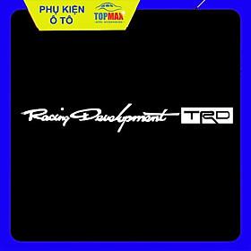 Bộ 4 tem dán tay nắm cửa xe Racing Development TRD