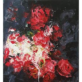 Tranh vẽ hiện đại Hoa hồng đỏ