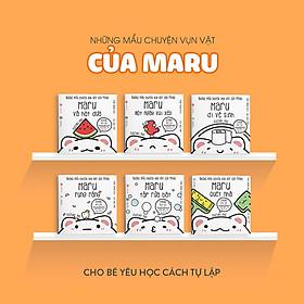 Combo 6 cuốn truyện tranh Ehon Nhật Bản - Những Mẩu Chuyện Vụn Vặt Của Maru (Maru và hạt dưa; Maru một ngày xui xẻo, Maru quét nhà, Maru tập rửa bát, Maru rụng răng, Maru đi vệ sinh) - Dành cho trẻ từ 2 - 8 tuổi
