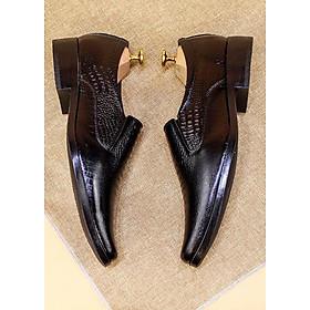 Giày tây nam ,công sở da cá sấu Tizinis N03