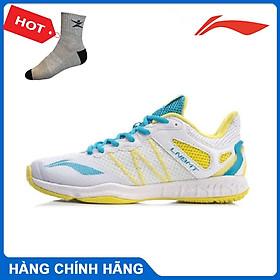 Giày cầu lông Lining AYTR014 chính hãng dành cho nữ, mẫu mới, đế kếp, chống lật cổ chân có 2 màu lựa chọn- Tặng tất thể thao Bendu