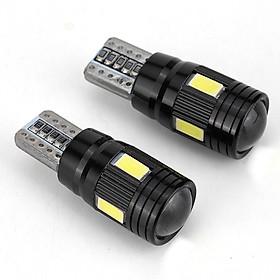 2pcs/4pcs/10pcs T10 LED Headlight Kit 6000K Low Beam White Lens Fog Marker Light - Black Items per