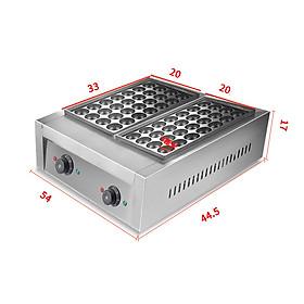 Máy làm bánh bạch tuộc đôi điện