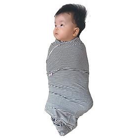 Khăn ủ kén cho bé sơ sinh  - Quấn Chũn - Mã QC01– Vải Cotton Co Giãn 4 Chiều – Giúp Bé Ngủ Ngon  (Tặng  Tất  Vớ  Màu Ngẫu Nhiên)