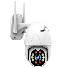 Camera IP Ngoài trời Yoosee PTZ 2 Râu FullHD 1080P 6 LED trợ sáng, 4 LED hồng ngoại, đàm thoại 2 chiều, hỗ trợ xoay 360 (trắng) Hàng Nhập Khẩu