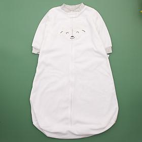 túi ngủ hình cừu màu trắng cổ xám cho bé