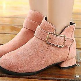 Giày Bốt Cho Bé Gái Màu hồng phấn B07H