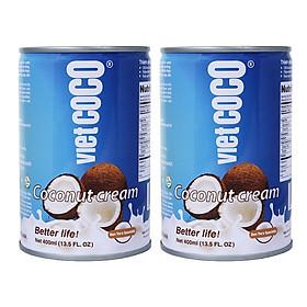 Combo 2 Lon Nước cốt dừa VIETCOCO 400ml - 22%