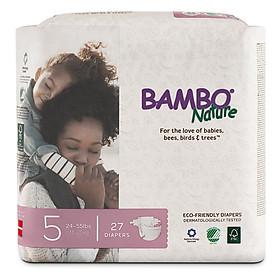 Thùng Tã Dán Em Bé Hữu Cơ Bambo Nature - gốc Đan Mạch - 11-25kg - XL27 - 6 gói - 27 miếng-2