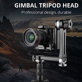Andoer Heavy Duty 360° Panoramic Gimbal Tripod Head Aluminum Alloy 15kg/33lbs Load Capacity with 1/4 Inch & 3/8 Inch