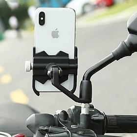 Giá đỡ kẹp điện thoại trên xe máy A1000 chất liệu hợp kim nhôm siêu cứng, siêu bền, chống trộm, không rung lắc , tháo lắp dễ dàng- Màu đen