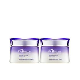 Bộ dưỡng da tươi sáng căng mọng Bio-Essence Bio-Bounce (Kem dưỡng tinh chất tổ yến & Collagen 50gr + Mặt nạ ngủ Night Mask tinh chất tổ yến & Collagen 50gr)