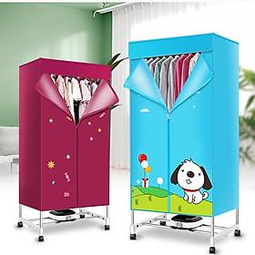 Tủ sấy quần áo khung inox 2 tầng chắc chắn sấy nhanh - máy sấy quần áo