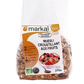 Ngũ cốc giòn trái cây Hữu Cơ MARKAL Muesli Croustillant Aux Fruits 375g-Nhập khẩu chính hãng từ Pháp