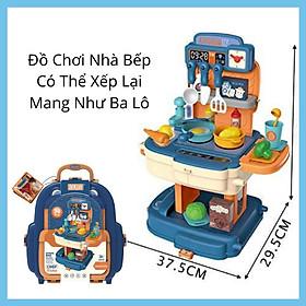 Đồ Chơi Nhà Bếp Nấu Ăn Cho Bé Nhập Vai Làm Bếp Bowa 8787P- Kitchen Set School Bag Role
