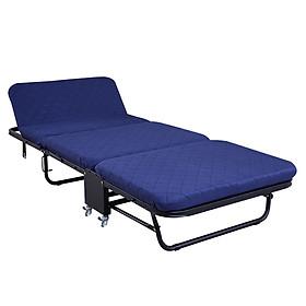 Giường ngủ thông minh gấp gọn NIKITA, Khung thép sơn tĩnh điện, Xếp gọn thành ghế sofa,  Bánh xe di chuyển dễ dàng