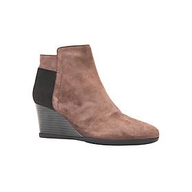 Giày Boots Nữ GEOX D INSPIRAT.WED C GOAT SUEDE CHESTNUT - Nâu