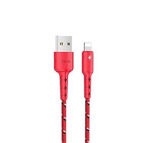Cáp sạc Hoco X14 Pro (Lightning) cáp sạc bọc dù siêu bền, hỗ trợ sạc nhanh 3A Max, tự ngắt khi pin đầy, LED báo sạc dành cho iPhone XS max, iPhone 11, iPhone 11 Pro max - Hàng chính hãng