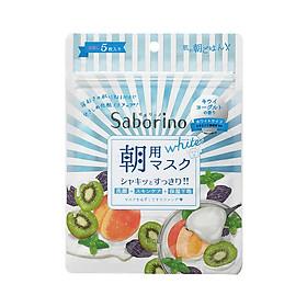 Mặt Nạ Dưỡng Ẩm Làm Sáng Da Buổi Sáng Saborino Morning Facial Sheet Mask Fresh White (Gói 5 Cái)