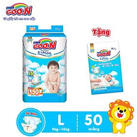 Tã Dán Goo.n Premium Cao Cấp Gói Cực Đại Size L50 (50 Miếng) - Tặng Bịch 5 Miếng Cùng Size