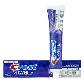 Kem đánh răng Crest 3D White Vivid Mint Ultra 158g