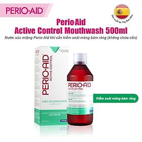 Nước súc miệng kiểm soát mãng bám răng PERIO·AID Active Control 500ml