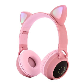 Tai nghe dễ thương cho mèo Bluetooth 5.0 Tai nghe không dây âm thanh nổi âm thanh nổi âm thanh nổi