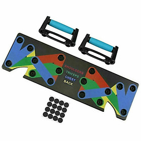 Multi-function Color-coded Push-up Board Fitness System Comprehensive Training Muscle Board