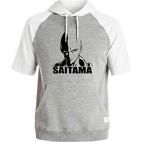 Áo Hoodie Tay Lỡ Có Mũ Saitama One Punch Man Mẫu 2
