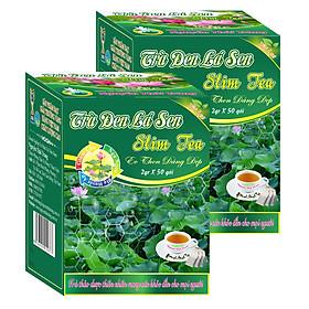 Combo 3 Hộp Trà Đen Lá Sen Giúp Giảm Cân An Toàn Cho Eo Thon Dáng Đẹp - Nguyên Thái Trang (Hộp 2gr X 50 Gói)
