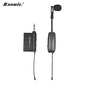 Baomic BM-12/V2 Professional UHF Wireless Instrument Microphone System Receiver & Transmitter 16 Channels for Sax