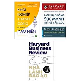 Combo Bộ 3 Kinh Tế Quản Trị, Lãnh Đạo Thành Công: Khởi Nghiệp Thành Công Từ Nhà Đầu Tư Mạo Hiểm + Nhà Lãnh Đạo 4.0 + Lãnh Đạo Bằng Sức Mạnh Trí Tuệ Cảm Xúc (Tặng Kèm Bookmark Happy Life)