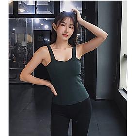 Áo tập thể thao 2 dây Gym, yoga, mặc ở nhà, đi chơi, đi du lịch.