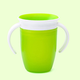 360 Degree Leakproof Baby Infant Learning Drinking Cup with Double Handle