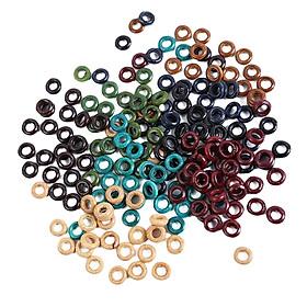 100Dreadlock Hair Beads Dread Hair Braid Round Rings Clips DIY Cuffs Jewelry