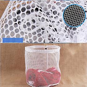 Bộ 4 túi lưới giặt dây rút đựng quần áo đồ lót chống mòn co giãn vải kích thước 30x40 40x50 50x60 50x70