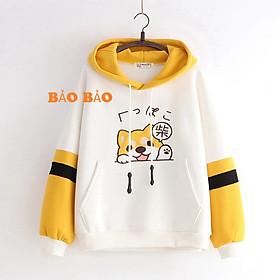 Áo nỉ hoodie nam nữ form rộng hàn quốc in hình cún con cute Bảo Bảo Mart