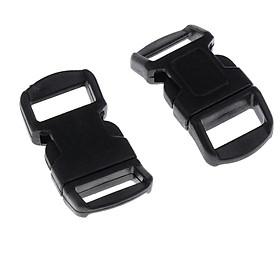 20pcs 10mm Curved Side Release Plastic Buckle for Paracord Bracelet