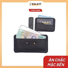 Combo Bộ 2 Ví Bóp Dài Và Ví Mini Nhỏ Da Bò Để Điện Thoại Để Tiền Để Name Card Thẻ ATM Galaxy Store GVD01C01 - Hàng Chính Hãng