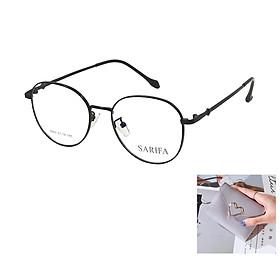 Gọng kính, mắt kính chính hãng SARIFA 5503 Đ (51-18-145) - Tặng 1 ví cầm tay (màu ngẫu nhiên)