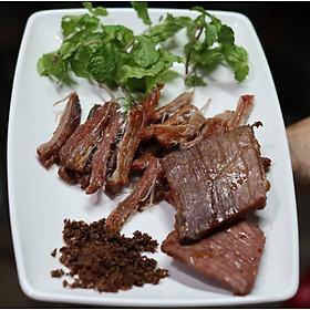 [Chỉ giao HCM]Bò Một Nắng Tây Nguyên Kèm Muối Kiến Vàng - 500g