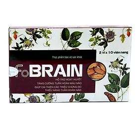 Giảm nhanh rối loạn tiền dình, tăng cường tuần hoàn máu não FoBrain - Hộp 20 viên