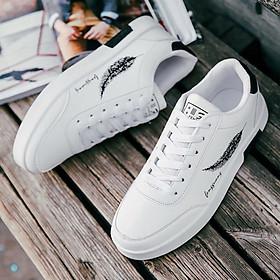 Giày Sneaker Nam, Giày Thể Thao Nam Thấp Cổ Họa Tiết Lông Vũ GTT099